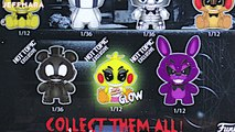Full Box Funko Mystery Mini Blind Bag Boxes Surprise Five Nights At Freddys Glow In The D