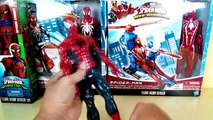 Superhero Marvel toys - spiderman with web copter, Captain america with battle cycle - kid