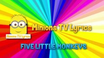 Five Little Monkeys Jumping on the Bed Nursery Rhyme - Animation Rhymes For Children| Anim