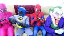 Spiderman vs Joker vs Batman - Spiderman Becomes A Spider! w_ Pink Spidergirl - Fun Superheroes  -)-aaWrN7F-5MQ