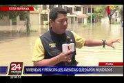 Piura: intensas lluvias continúan presentándose en la región