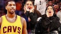 Khloe Kardashian Cheers Boyfriend Tristan Thompson With Kourtney Kardashian