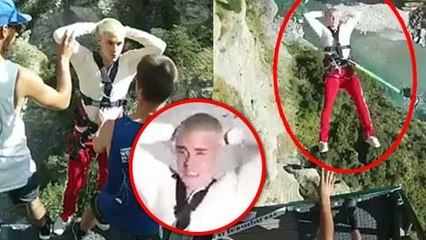 Justin Bieber SHOCKING Bungee Jumping Video From New Zealand