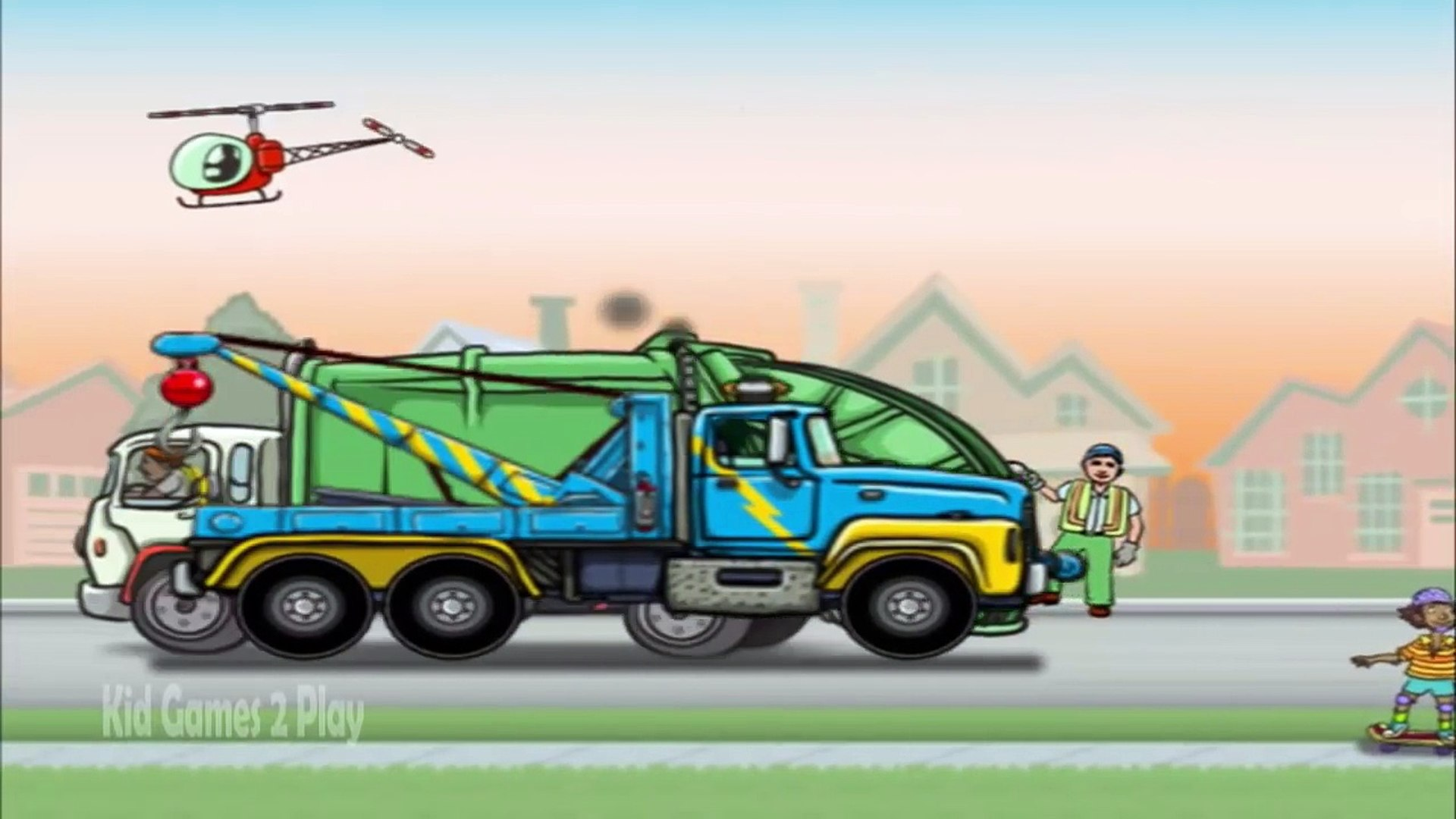 Garbage Trucks Game for Kids - Kids Learn How to Garbage Trucks Operation - Education Game