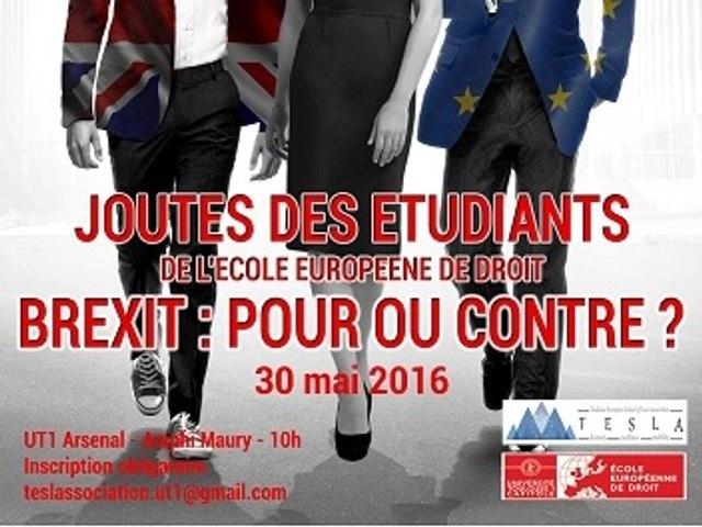Retour sur la première édition des joutes des étudiants de l'ESL : « Le Brexit : pour ou contre ? »