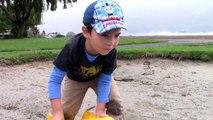 Toy Trucks for Kids - Tonka Construction Vehicles Digging in Mud - Dump Truck, Backhoe, Bulldozer-X