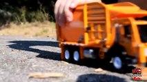 GARBAGE TRUCK Videos For Children l Kids Bruder Garbage Truck To The Rescue! l TOY TRUCK Videos Kids-AR