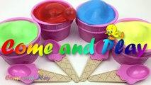 Ice Cream Clay Slime Surprise Eggs Disney Finding Dory Disney Frozen Trolls Pokemon Toys Fun Kids-Nebj7V