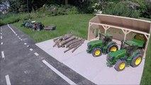BRUDER toys SNOW tractor crash! Video for kids-_