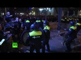 Police disperse crowds of Turkish protesters in Rotterdam