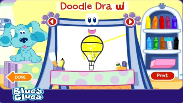 BLUES CLUES - Doodle, Doodle, Guess and Draw - New Blues Clues Game - Online Game HD - G