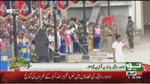 Flag Lowering Ceremony At Wagah Border Pakistan Day 2017 (Full)