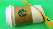Starbucks Coffee How to Make with Play Doh Modelling Clay Videos for Kids ToyBoxMagic-q9CzGv