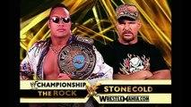 WWF - The Rock vs Stone Cold Steve Austin
