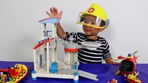 Fireman Sam Ocean Rescue Playset Toys Unboxing Kids Playing  Rescue Helicopter Ckn Toys-IMMOgFuum