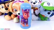 Play Doh Paw Patrol Skye Rocky Rubble Chase Marshall Rubble Kinder Surprise Eggs Toys For