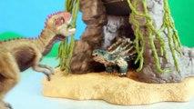 TOY DINOSAUR FIGURES Saichania vs Giganotosaurus Dinosaurs Fight Schleich 2-pack Toy Review-oXpSHu2Zb