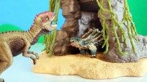 TOY DINOSAUR FIGURES Saichania vs Giganotosaurus Dinosaurs Fight Schleich 2-pack Toy Review-oX