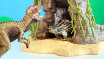 TOY DINOSAUR FIGURES Saichania vs Giganotosaurus Dinosaurs Fight Schleich 2-pack Toy Review-oXpS