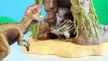 TOY DINOSAUR FIGURES Saichania vs Giganotosaurus Dinosaurs Fight Schleich 2-pack Toy Review-oXpSHu2Z