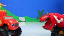 DINOTRUX Toys Ty RUX (Dinosaurs & Trucks) Gets Help from BLAZE AND THE MONSTER MACHINES Toypals.tv-ze