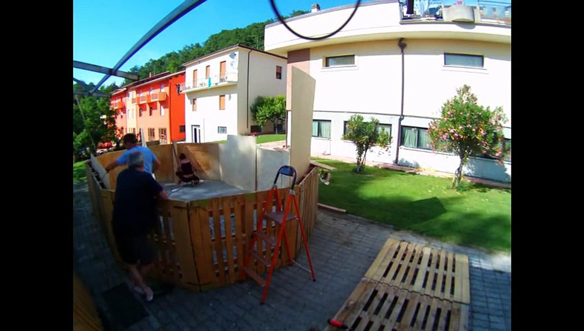 Piscine En Palette De Bois construction du piscine en palettes