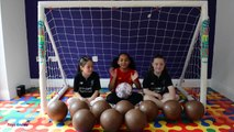 BASHING 10 Giant Surprise Chocolate Footballs - Football Challenges - Kinder Sur