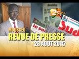 Revue de presse du 28 AOUT 2015