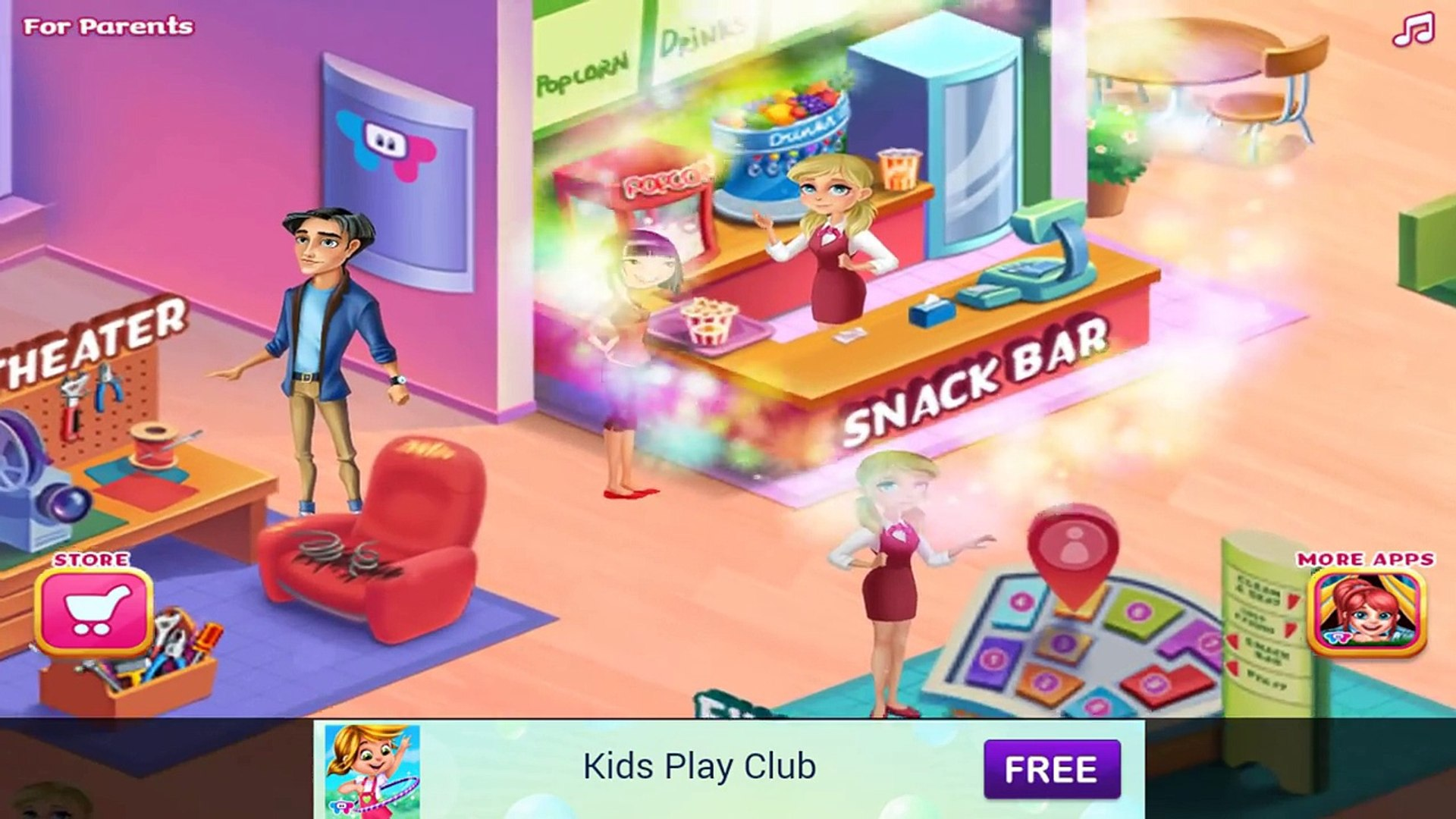 Kids Movie Night - Android gameplay TabTale Movie apps free kids best