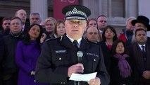 Acting Metropolitan Police Commissioner speaks at vigil