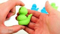 Play Doh Moon Sand w/ Caterpillar (GREEN & BLUE) Fun Video for Kids & Children