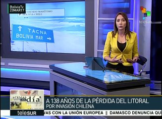Conmemora Bolivia 138 años de la pérdida de su litoral