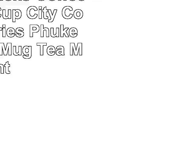 New Starbucks Coffee Tumbler Cup City Collector Series Phuket Thailand Mug Tea Mint