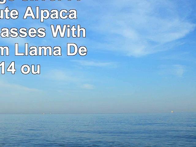 Travel Mugs sliver Adorable Cute Alpaca Wearing Glasses With No Problem Llama Design 14