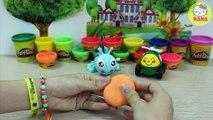 Bé tập nặn con gà mái bằng đất nặn play doh - Play Doh Hen For Kid