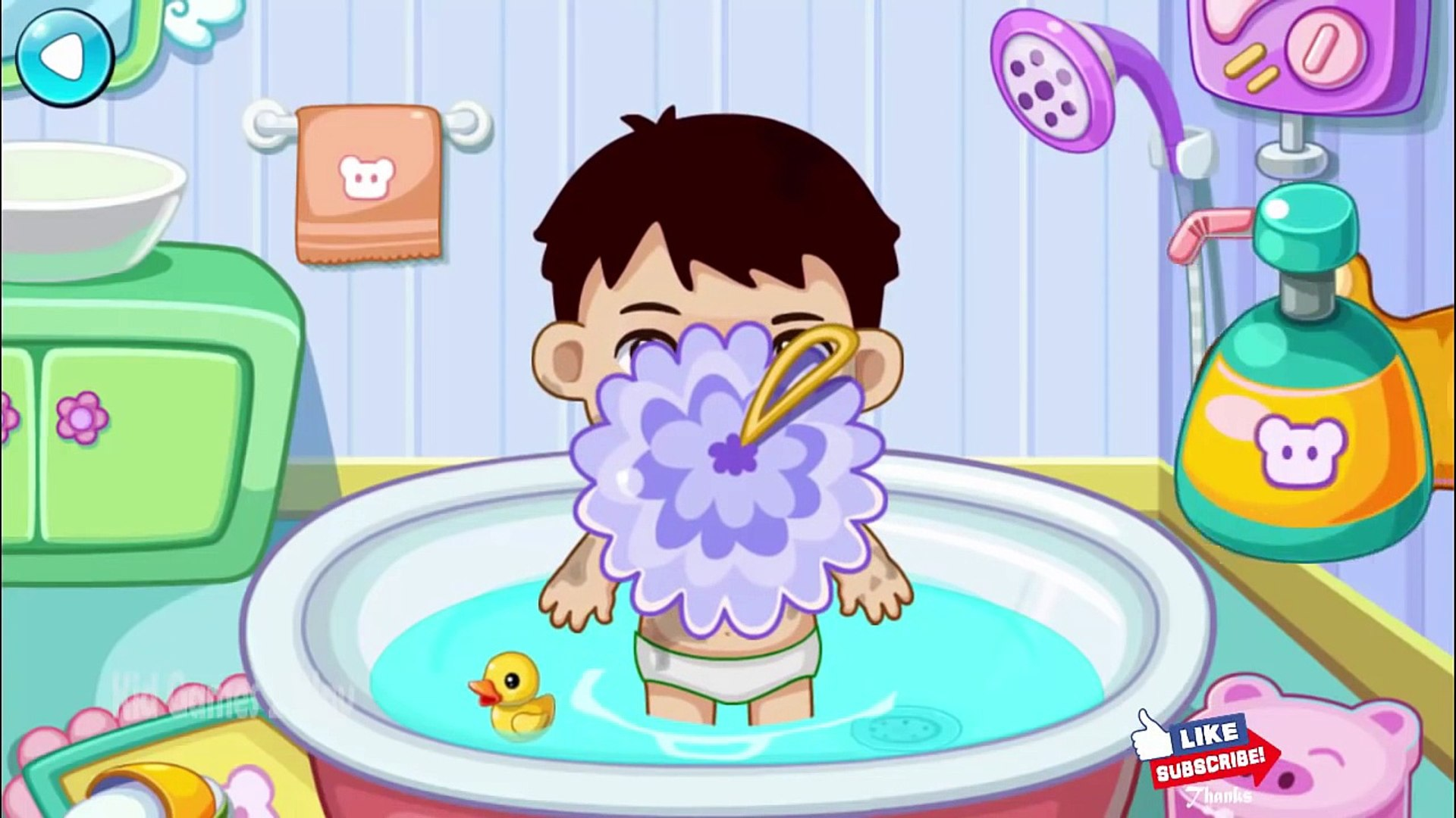 Smart Girl Daily Routine - Bath Care, Dress Up & Cleanup - Gameplay Android & iOS
