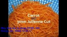 máy cắt rau củ quả HYQC 330, máy thái sợi hạt lựu nấu canh 20mm, máy thái sợi làm đồ chua
