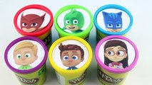 Learn COLORS PJ Masks Playdoh Molds Disney Jr Owlette Catboy Gekko Romeo Toys for Kids ABC