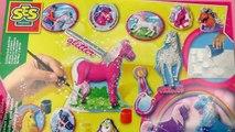 Cheval, Licorne et Poney en plâtre fabriqués avec SES Creative Set Démo 2