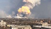 Explosions dans un dépôt de munitions en Ukraine