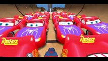 New Spiderman vs 25 Disney Custom Spider McQueen Cars w Children Nursery Rhyme with Action