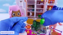 Pororo Refrigerator and Ice Dispenser with Bubble Guppies PJ Masks Baby Dolls Cooking Pret