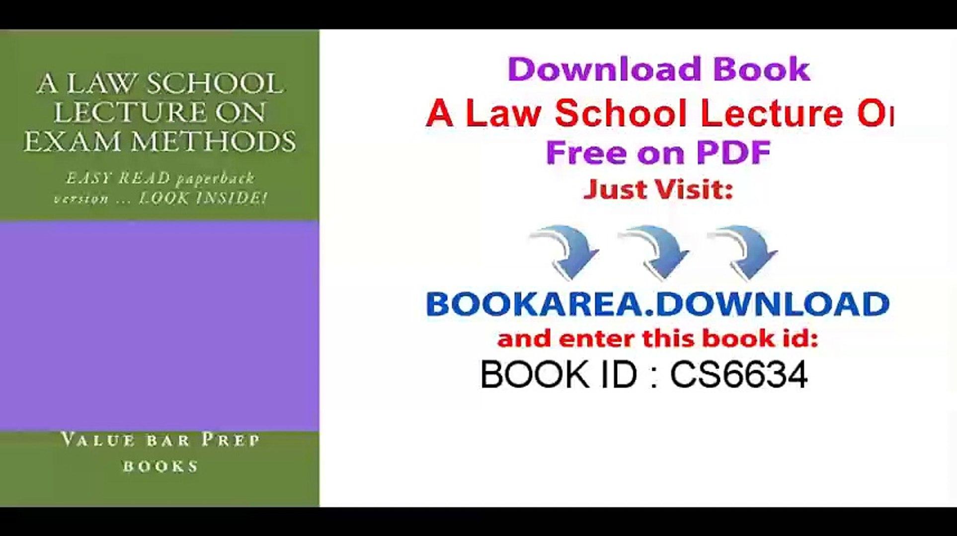 A Law School Lecture On Exam Methods (e book) (e borrowing OK)_ e book,  Ivy Black letter law books