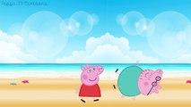 PEPPA PIG MAKEUP IN BEACH ANGRY PIG DADY FINGER FAMILY NURSERY RHYMES LYRICS PARODY