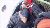 En plein saut en parachute il perd son dentier !