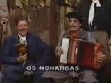 """Quadro: ''Arquivos Gaúchos"""" Eurides Nunes, Vanerão Farroupilha, junto ao grupo Os Monarcas, Galpão Crioulo anos 80"""