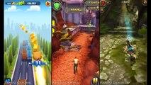 Talking Tom Gold Run vs Despicable Me 2 Minion Rush vs Lara Croft Relic Run - game for kid