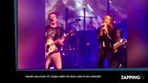 Johnny Hallyday: Laura Smet et David Hallyday se retrouvent sur scène (Vidéo)