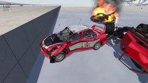 Beamng drive ✔ Slippery Road Crashes (Multi Vehicle Crashes, ice crashes)