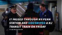 Amtrak train derails and hits another train in NY Penn Station